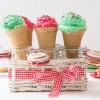 Ice creams in cones